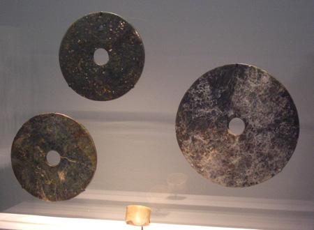 Liangzhu culture bi, from the Freer Gallery