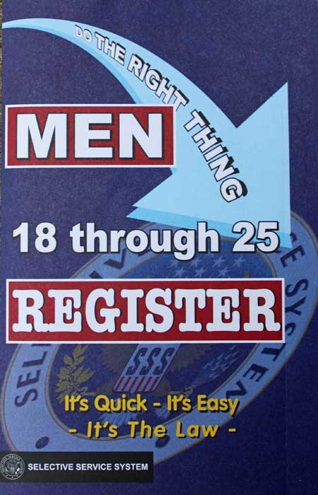 the form of sexist selective service purple motes – Selective Service Registration Form