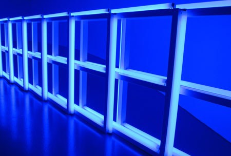 Dan Flavin, untitled (to Helga and Carlo, with respect and attention); exemplar of fluorescent enlightenment