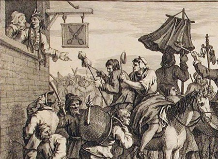 Hograth's depiction of a charivari / skimmington