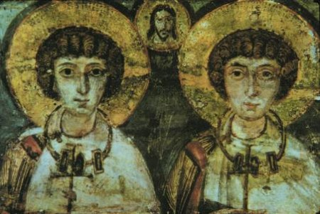 St. Sergius & Bacchus icon, early 7th century