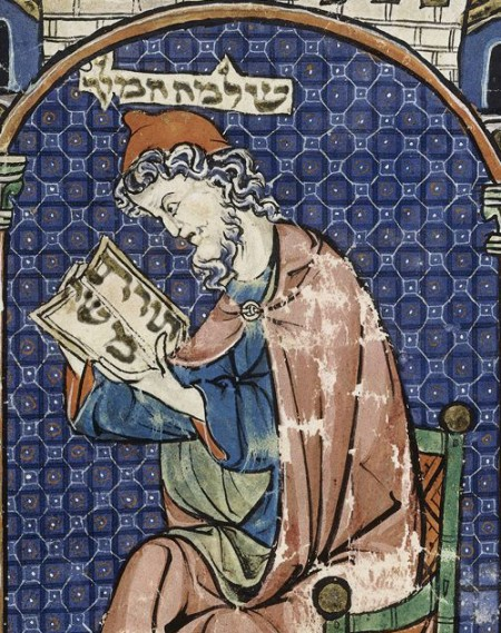 Solomon reading Hebrew scripture