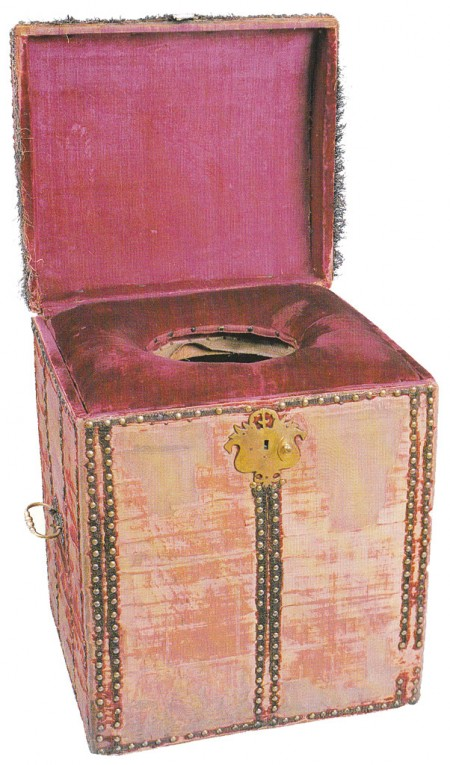 commode managed by groom of the stool