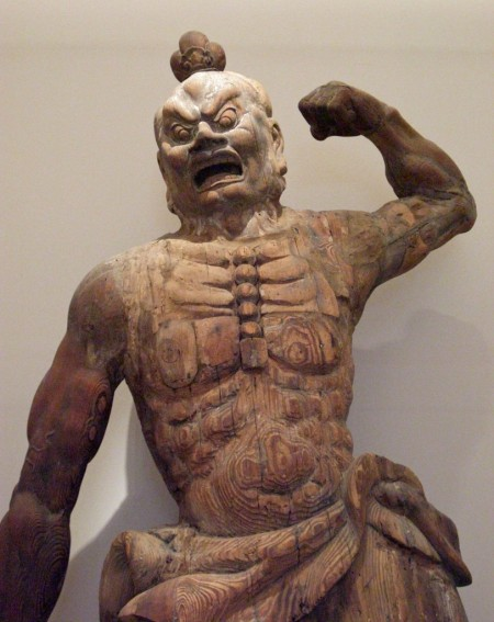 Japanese gladiator: guardian figure, Japan, Kamakura period (1185–1333)