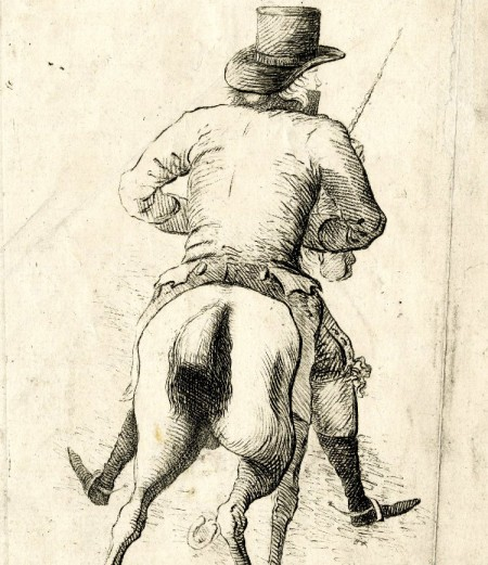 view of dandy and horse's ass