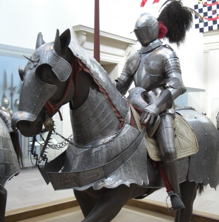 later medieval idea of chivalry: knight on horse