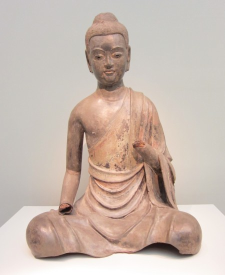 Historical Buddha at a young age; sculpture from late 6th/early 7th-century China