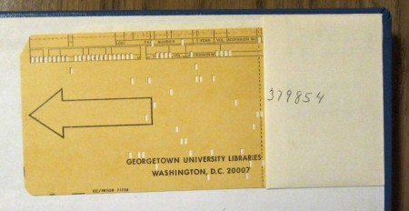 library punched card