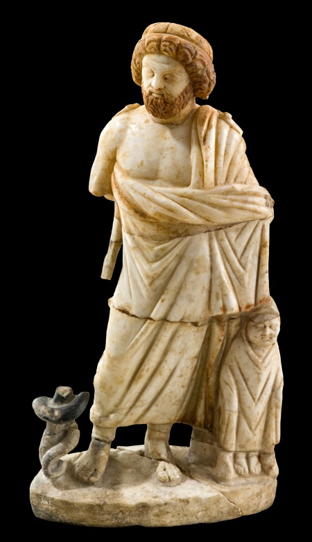 scuplture of Asklepios with Telesphoros