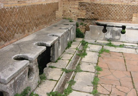 public latrine at Ostia, setting for seven sages wall painting