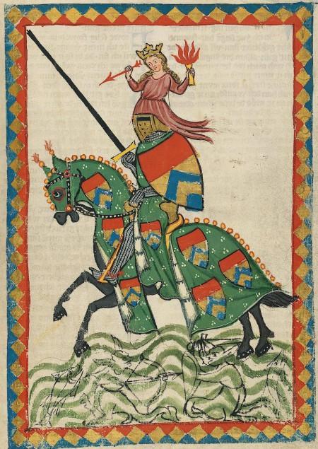 representation of knight Ulrich von Liechtenstein in Frauendienst