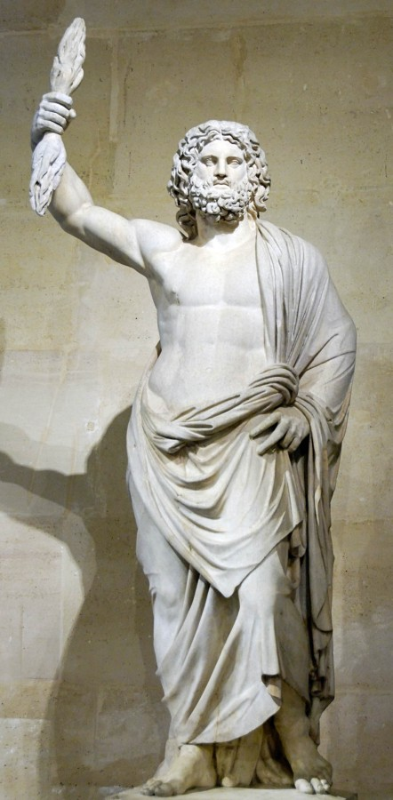 sculpture of the god Jupiter de Smyrne, a Roman version of Zeus