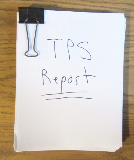 TPS Report, preliminary draft