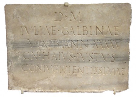 Roman epitaph to Julia Galbina