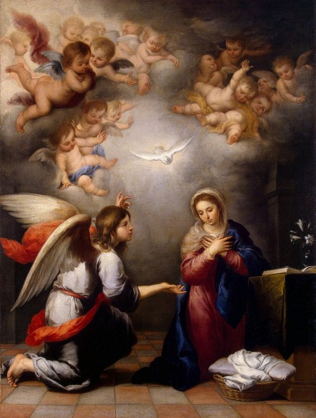 angel Gabriel greets Mary