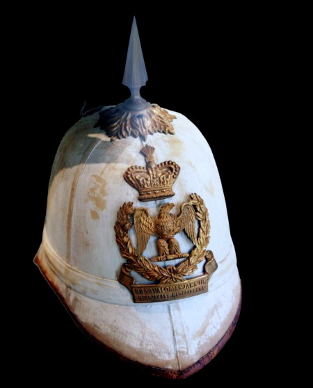 pith helmet in the style of 2nd French Empire