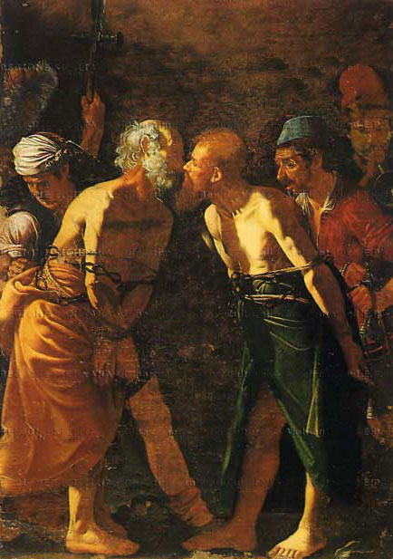 holy kiss in painting Saint Peter and Paul's farewell