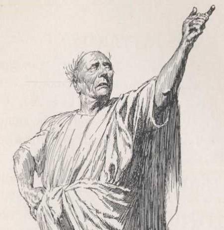 Eumolpus reciting poetry in Satyricon