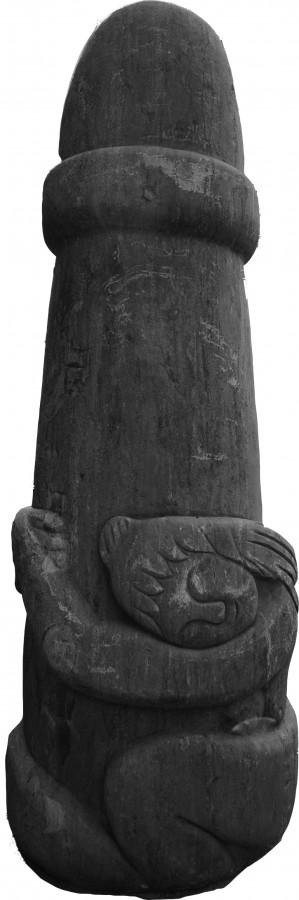 woman hugging phallus