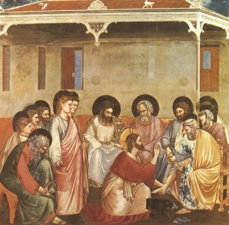 Jesus washing feet from Gospel of John