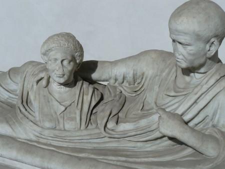 Roman husband guarding wife