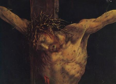 Christ suffering passion in Isenheim Altarpiece
