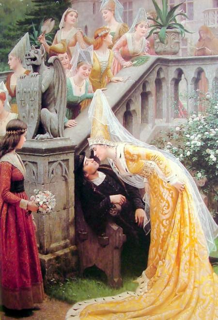 Margaret of Scotland kissing Alain Chartier