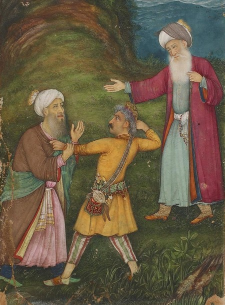 Galen watching dispute between two men