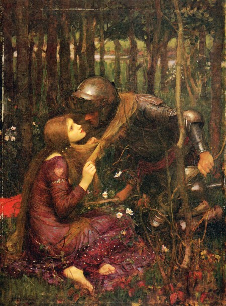 romantic love: lady and knight