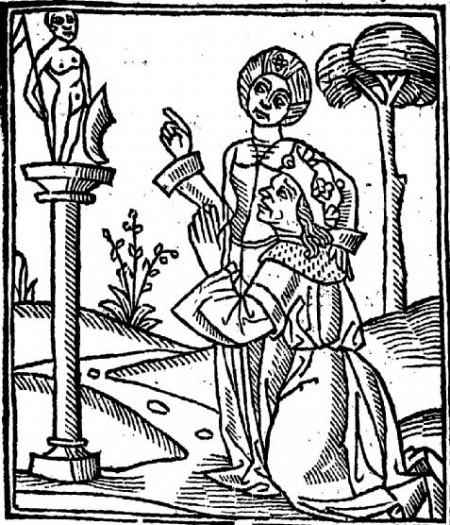 woman on pedestal