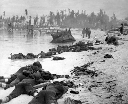 dead men on Tarawa beach