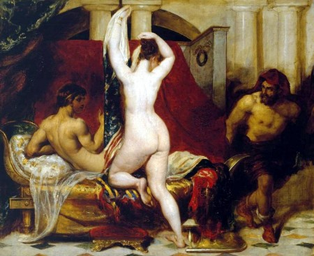Candaules covertly shows wife to Gyges