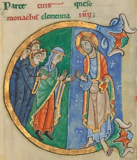 Christina of Markyate in St. Albans Psalter