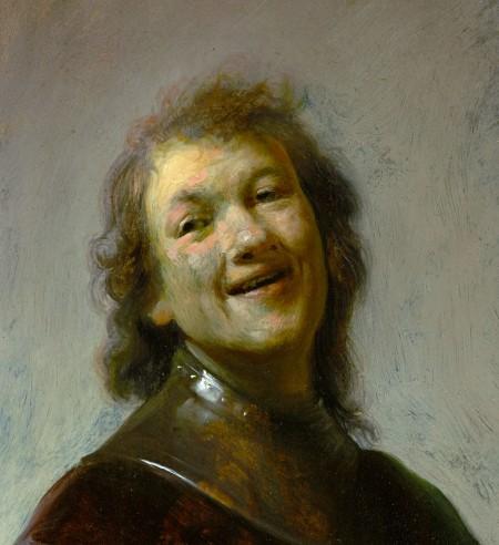 Rembrandt as laughing philospher Democritus