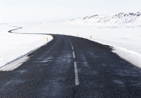 cold winding road