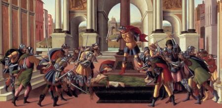 Lucretia inciting men to war