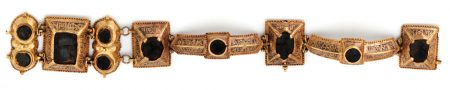 12th-century Abbasid bracelet with Arabic lettering