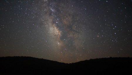 Night sky's stars present celestial gods