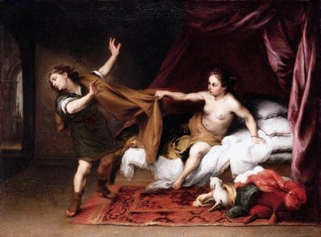 Joseph being sexually assaulted by Potiphar's wife