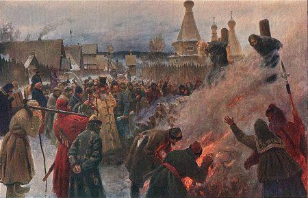 burning men: Old Believers