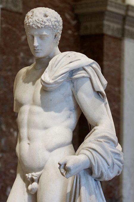 Lysippos sculpture of Hermes as exemplar of masculine beauty